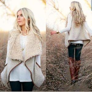 NWT Love Tree Faux Fur Vest Size Large